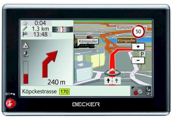 Testsieger beim ADAC ist das Becker Navigationsgerät Z205 (Foto: Becker)