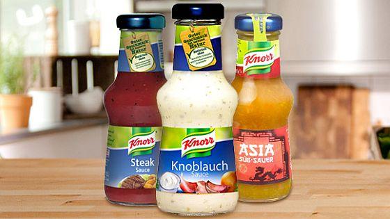 Gleich zwei Testsiege verbuchen die Grillsaucen von Knorr: Die Zigeuner-Sauce und die Knoblauch-Sauce überzeugten die Tester von Stiftung Warentest (Foto: Knorr)