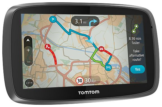 Im Test war die Einsteigerklasse der mobilen Navigationsgeräte. Im Bild das RomTom Go 5000. (Foto: TomTom)