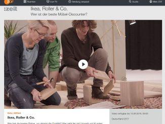 Das ZDF sendet regelmäßig Test-Dokumentationen. Dieses Mal sind die Möbelhäuser an der Reihe. Wir haben uns den Beitrag kritrisch angesehen. (Foto: Screenshot aus der ZDF-Mediathek)